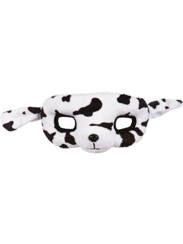 Plush 101 Dalmatian Face EyeMask Fancy Dress Dog Puppy Animal Book Week Face