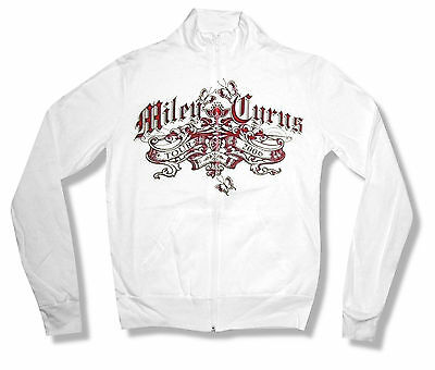 """MILEY CYRUS """"BANNER 2006"""" TOUR WHITE TRACK JACKET NEW OFFICIAL LADIES LARGE L"""
