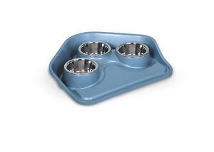 Apprehensive Vassoio Con Ciotole In Metallo Dishes, Feeders & Fountains Cat Supplies Tray Vip