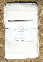 Pottery Barn Tailored Linen Sham Ivory Euro Bedding