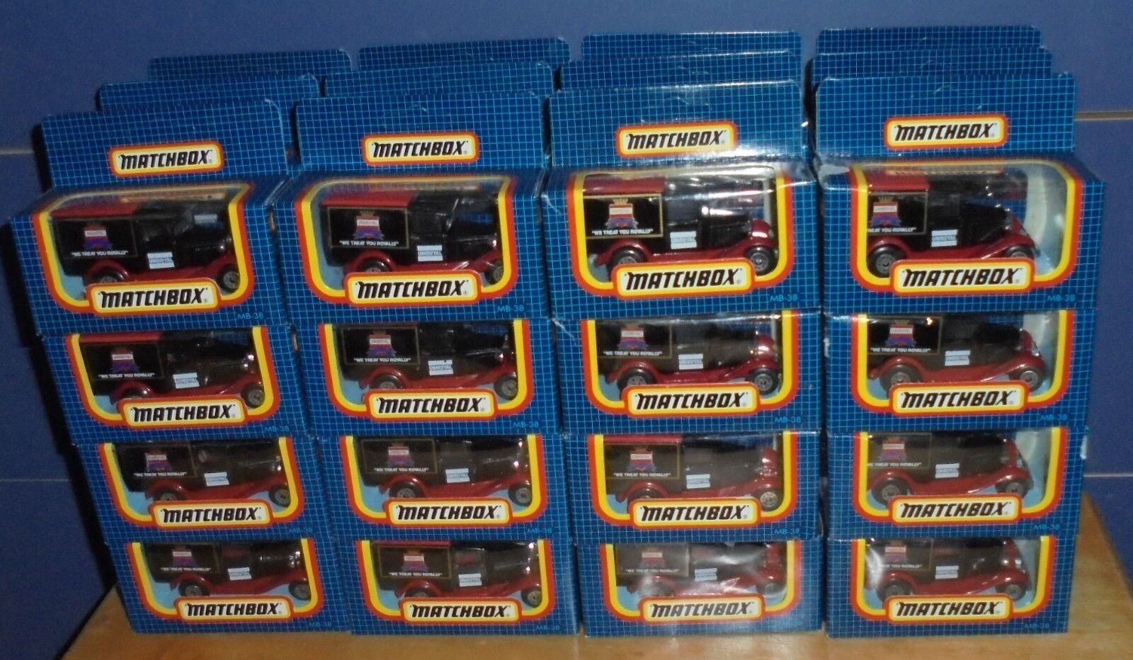 Matchbox Superfast MB38 Modelo A Ford Van Uniroyal Acton's código de servicio 3 X 48