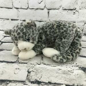 Ty-Beanie-Buddies-Leopard-Cheetah-Cat-Gray-Spotted-Laying-Stuffed-Animal-Toy