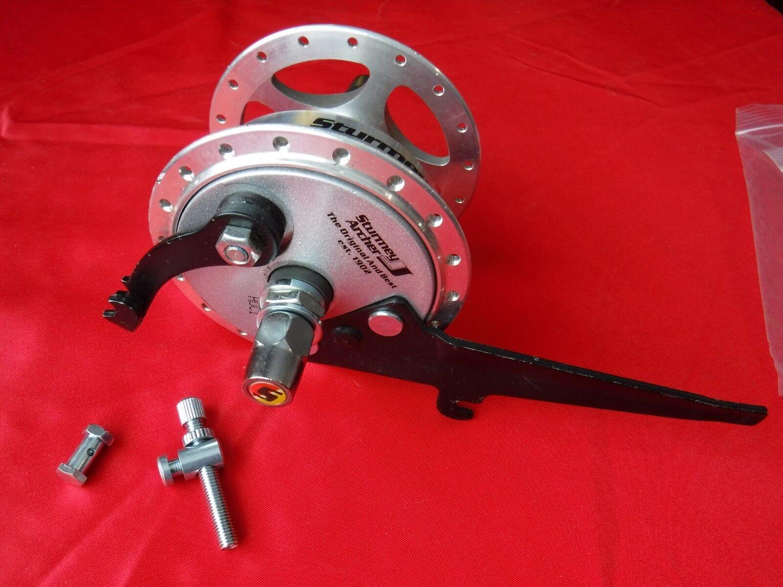 Sturmey Archer 100mm Hub w 70mm Drum Brake 36H high flange 9mm axle Wheelchair