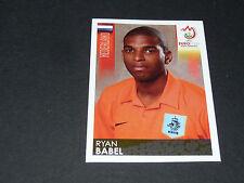 N°272 RYAN BABEL PAYS-BAS NEDERLAND PANINI FOOTBALL UEFA EURO 2008