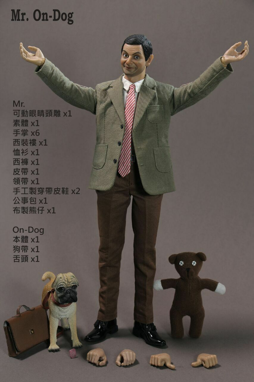 Hot Toys 1 6th Rowan Atkinson Mr Bean MR. On-DOG Collectible Action Figure Model