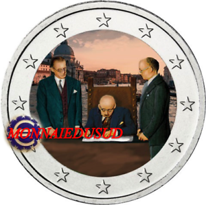 2 Euro Commémorative Italie 2018 en Couleur Type A - Constitution Italienne