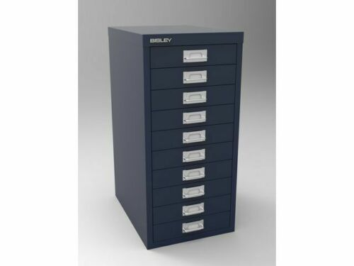 Bisley Steel Metal Filing Cabinet 10 Drawer Maxi Tall Industrial Home Office