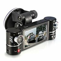 "2.7"" HD 1080P Dual Lens Car Vehicle Dash Camera DVR IR Cam Night Vision Recorder"