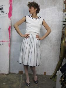 anni Camicia navy senza anni donna blu da '60 maniche Creation Paris '60 bianca vintage rwx1qYcz4w