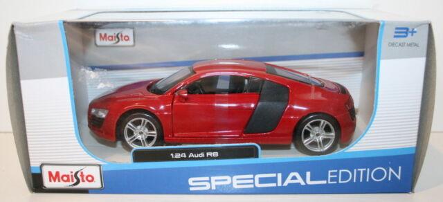 Maisto 1/24 Scale 31281 - Audi R8 - Red