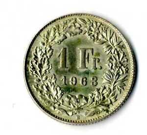 Moneda-Suiza-1963-B-1-franco-suizos-plata-835-silver-coin-Helvetia