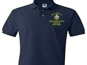 NAVAL SUPPORT ACITIVITY SOUDA BAY GREECE  EMBROIDERED POLO SHIRT/SWEAT/JACKET.