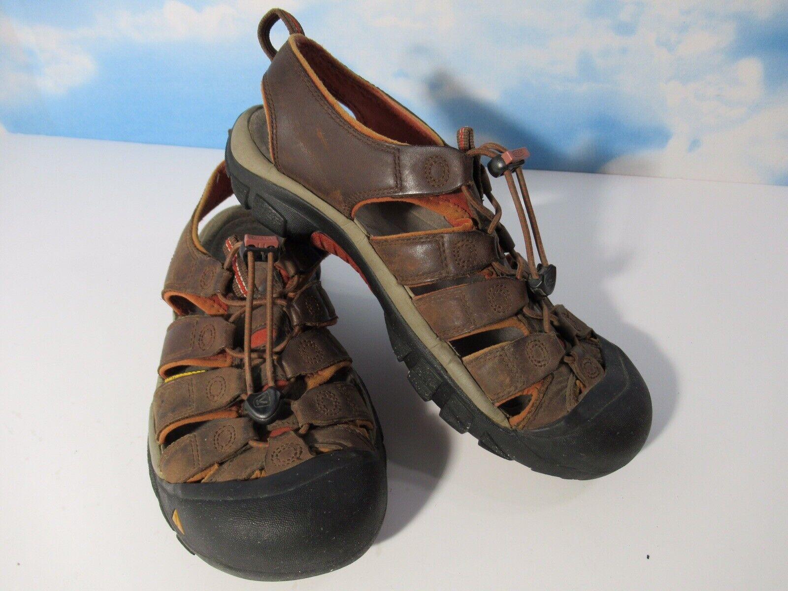 Keen NEWPORT Men's Brown Leather Sport Hiking Sandals Size US 9  1010121