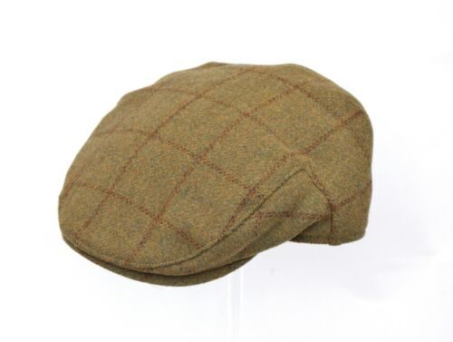 BRAND NEW MEN/'S GREEN TWEED NEWSBOY COUNTRY FLAT CAP GR91