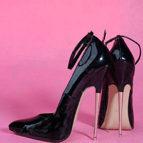 16CM Heel Height Sexy PU Pointed Toe Stiletto Heel Pumps Metal heel No.108