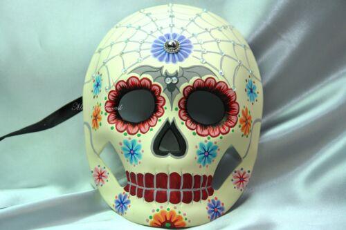 Sugar Skull Day Of Dead Dia De Los Muertos Full Face Women Kids Mask Gemstones