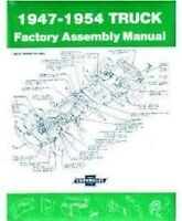 Chevrolet Truck Assembly Manual 1947 To 1953 Trucks