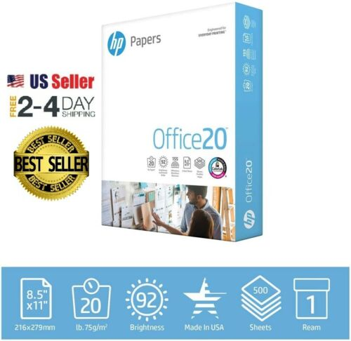 HP Printer Paper Office 20 8.5 x 11 Copy Print Letter Size 1 Ream 500 Sheets USA