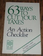 63 Ways To Cut Your Taxes by Howard M Gibbs & Karl H Loring (1984, paperback)