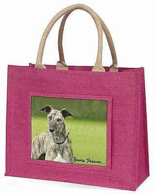 Windhund-hund dir für immer Große Rosa Einkaufstasche Weihnachten Geschenk,