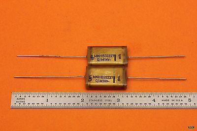2pc SIEMENS B32227 MKH - MKT 100nF 1kV 0.1uF 1000V POLYESTER CAPACITOR TUBE AMP