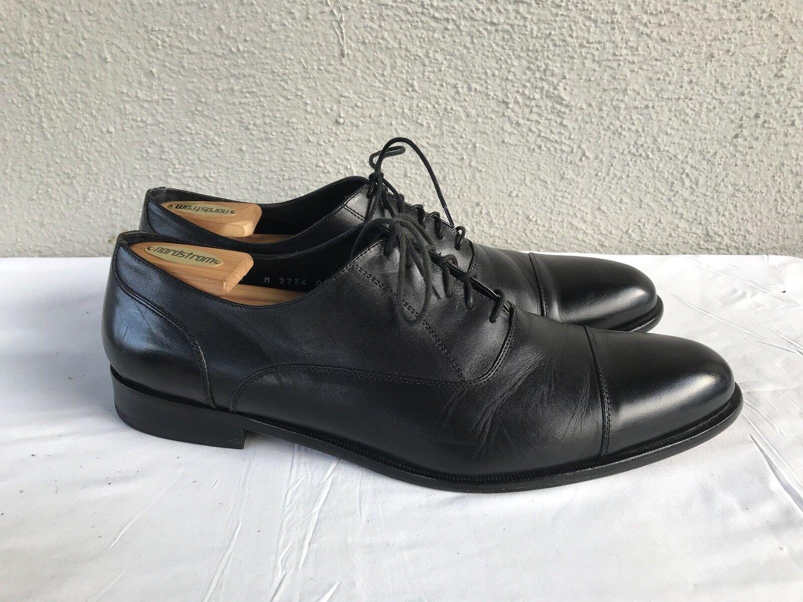 Excellent état utilisé  Homme Broletto taille US 13 M en cuir noir Cap Toe à Lacets Derbies B