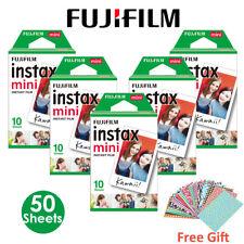 50 PCS Fujifilm Instax Mini Instant White Film for Fuji 8 25 50s 70 90 7s Camera