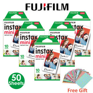 50-Pcs-FujiFilm-Instax-Mini-Instant-White-film-pour-Fuji-8-25-50-S-70-90-Camera-7-S