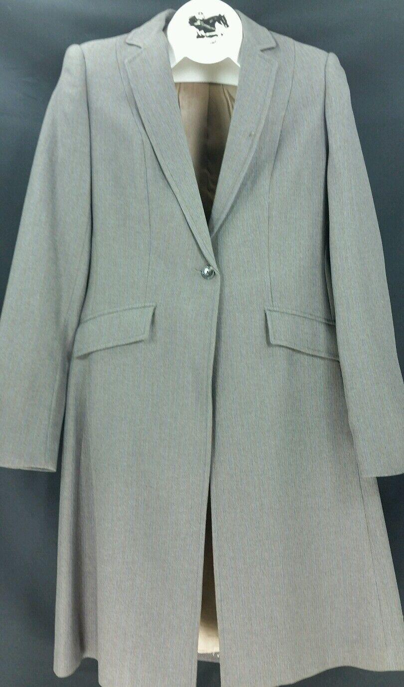Reed Hill Ladies Saddleseat suit 2 piece Light  Brown  stripe poly 8 - USA  online fashion shopping