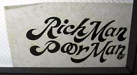 1970s/80s Original Vintage T-shirt Iron-on Lot (9) 4x8 Rich Man Poor Man