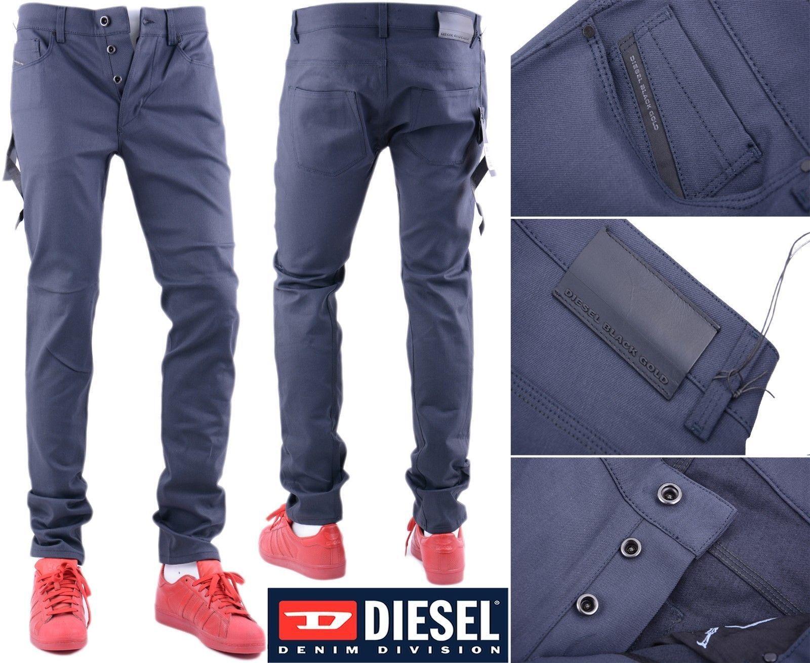 DIESEL nero oro Superbia BG62G W26 W26 W26 L32 Jeans Denim Uomo Slim Fit Skinny 162af2
