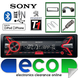 peugeot 206 cc sony 55 x 4w cd mp3 usb bluetooth car radio. Black Bedroom Furniture Sets. Home Design Ideas