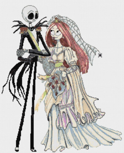 Nightmare Before Christmas 10 Counted Cross Stitch Kit Cauchemar Jack Caractères