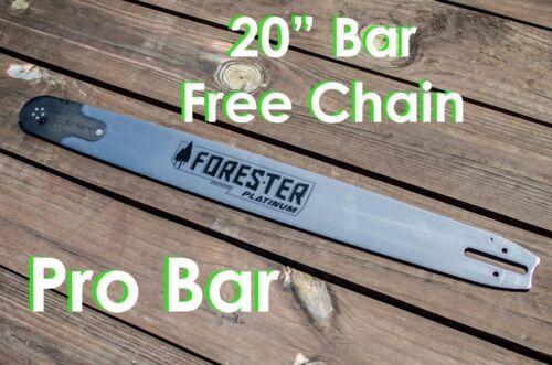 """20/"""" Forester Platinum Pro Tip Bar,3//8/"""" pitch,050 gauge,72 link,Fits Large Husky"""
