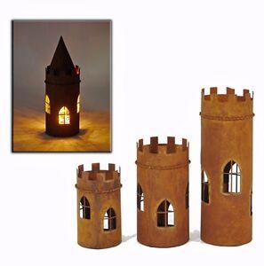 Windlicht Turm Mit Dach Metall Rost 919694 Laterne Deko