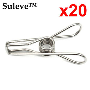 x20-Stainless-Steel-Clothes-Washing-Line-Pegs-Metal-Paper-Photo-Clips-Hanger-Pin