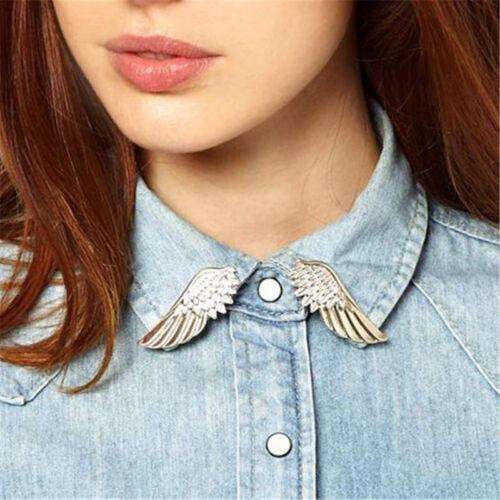 Neue Vintage Kette Quaste Bluse Shirt Kragen Spitze Pin Brosche Clip Cocktai CJ