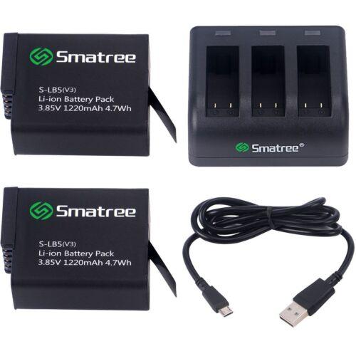 2 paquetes ) con 3 Canales Cargador Para Gopro HERO 7//6//5//Hero 2018 Batería Smatree