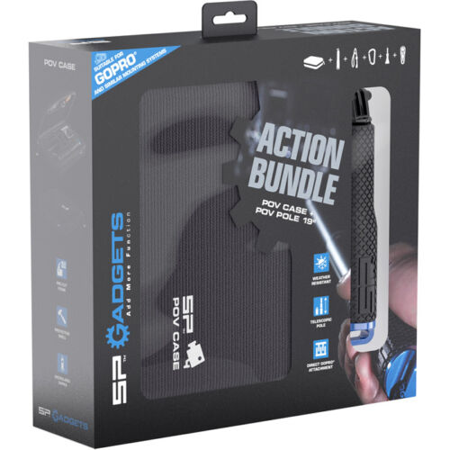 Correa Sp Gadgets Sp acción Bundle Para Gopro Hd Hero 1 2 3 3 4 Grip Polo Funda