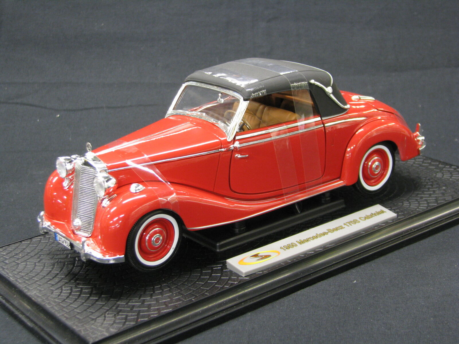 Signature Models Mercedes-Benz 170S Cabriolet 1950 1 18 rouge (JS)
