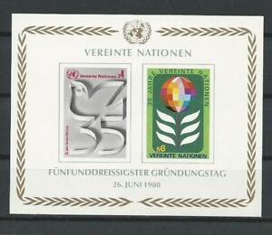 Austria-Vereinte-Nationen-UNO-UN-MNH-Bloc-of-2-Souvenir-Sheet