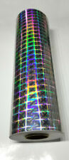 Silver Plaid Pattern Holographic Diffractive Sign Vinyl 24 X 10 Ft Roll
