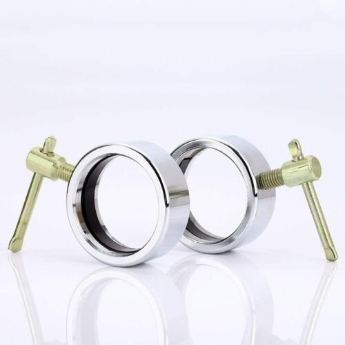 1 Pair Stainless Steel Barbell Collars for Olympic Barbell Clamp Collar