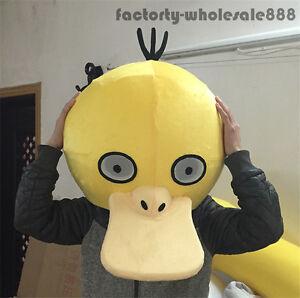 psyduck mascot head pokemon go halloween costumes xmas cosplay fancy