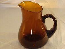 Vintage Artisan Amber Blown Glass Jug Pitcher Sangria Pimms Drinks 2.5 Pints