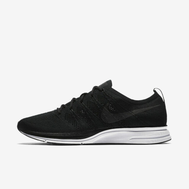b2ca54fc965bc Nike Flyknit Trainer Mens Size 10 Crossfit Trainers Black White Shoes  Ah8396 007