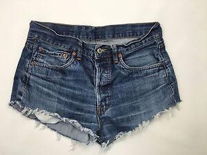 Hotpants Denim Ottime W30 shorts Reworked condizioni Womens Levi Navy wx0qBCt