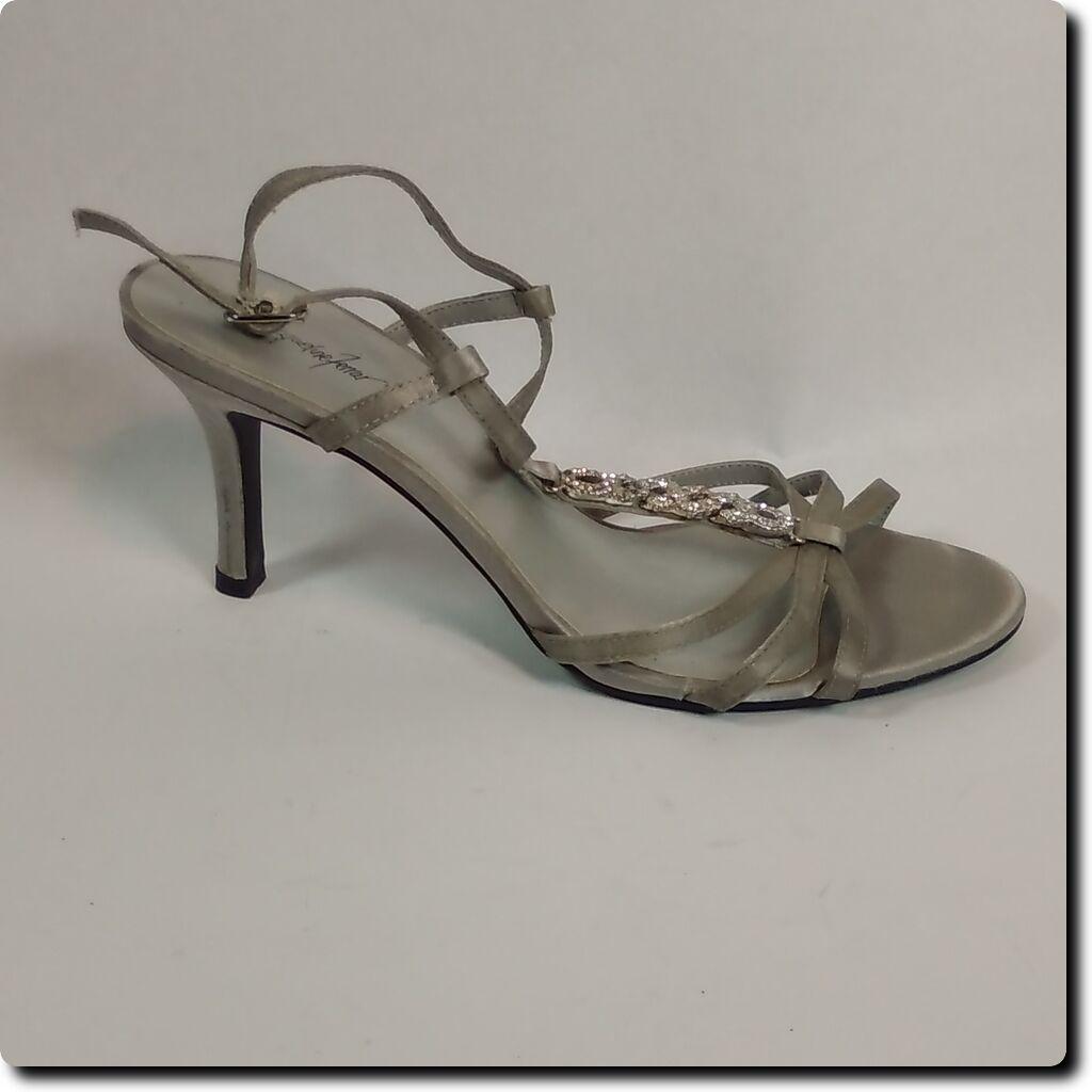 Gentlemen/Ladies Jacqueline Ferrar Silver Bling Dress Heels Preferential Aesthetic appearance Medium cost Preferential Heels price 00b558