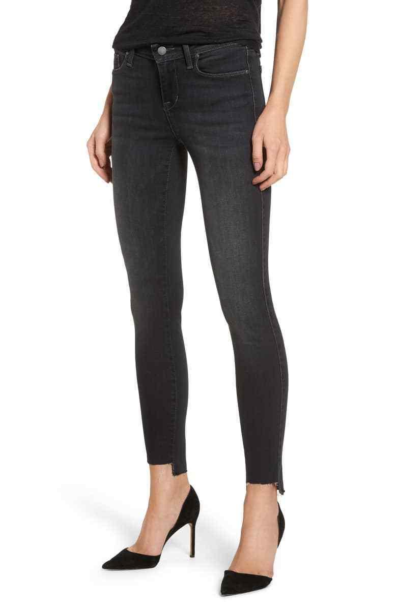 208 NEW Women's Fidelity Mila Step Hem Skinny Jeans, SZ 32 AFTER MIDNIGHT USA