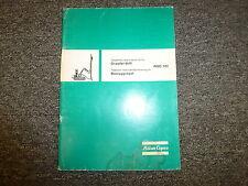 Atlas Copco ROC701 Directional Crawler Drill Parts Catalog Manual Book